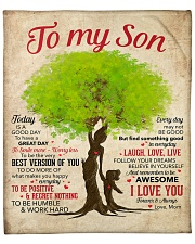 """Today Is A Good Day Mom To Son Fleece Blanket - 50"""" x 60"""" front"""