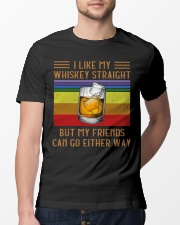 I Like my whiskey straight Classic T-Shirt lifestyle-mens-crewneck-front-13