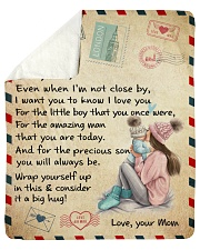 """Even When I'm Not Close By Mom To Son Sherpa Fleece Blanket - 50"""" x 60"""" thumbnail"""
