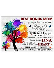 Best Bonus Mom Thanks For Loving Me As Your Own 17x11 Poster front