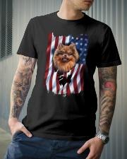 American Flag pomeranians Classic T-Shirt lifestyle-mens-crewneck-front-6