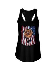 American Flag pomeranians Ladies Flowy Tank thumbnail