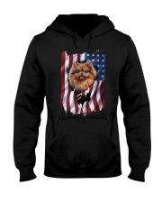 American Flag pomeranians Hooded Sweatshirt thumbnail