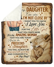 """Even When Im Not Close By Lion Mom To Daughter Sherpa Fleece Blanket - 50"""" x 60"""" thumbnail"""