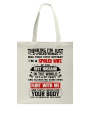 I'm A Spoiled Wife Of A Freking Awesome Husband Tote Bag thumbnail
