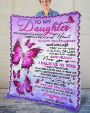 """Inside This Blanket There Is Piece Mom To Daughter Fleece Blanket - 50"""" x 60"""" aos-coral-fleece-blanket-50x60-lifestyle-front-02"""