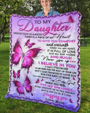 """Inside This Blanket There Is Piece Mom To Daughter Fleece Blanket - 50"""" x 60"""" aos-coral-fleece-blanket-50x60-lifestyle-front-02b"""