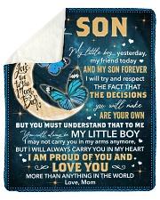 My Little Boy Yesterday - Butterfly Mom To Son Sherpa Fleece Blanket tile