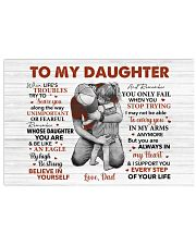 When Life's Troubles Try To ScareU Dad To Daughter Horizontal Poster tile