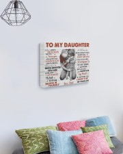 When Life's Troubles Try To ScareU Dad To Daughter 14x11 Gallery Wrapped Canvas Prints aos-canvas-pgw-14x11-lifestyle-front-02