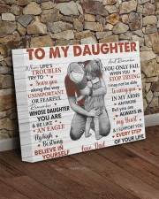 When Life's Troubles Try To ScareU Dad To Daughter 14x11 Gallery Wrapped Canvas Prints aos-canvas-pgw-14x11-lifestyle-front-21