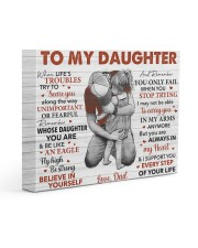 When Life's Troubles Try To ScareU Dad To Daughter 14x11 Gallery Wrapped Canvas Prints front