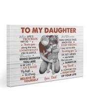 When Life's Troubles Try To ScareU Dad To Daughter Gallery Wrapped Canvas Prints tile