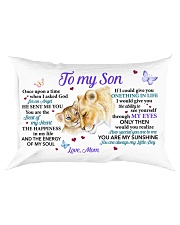 Once Upon A Time When I Asked God Mom To Son Rectangular Pillowcase front