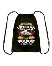 Being A Papa Is Priceless Drawstring Bag thumbnail