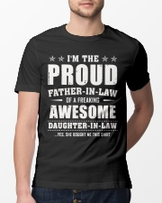 Proud Father-In-Law Of A Freaking Daughter-In-Law Classic T-Shirt lifestyle-mens-crewneck-front-13