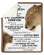 "My Little Boy Yesterday - Grandma To Grandson Sherpa Fleece Blanket - 50"" x 60"" thumbnail"