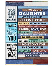 Never Forget That I Love U Mom To Daughter 11x17 Poster thumbnail