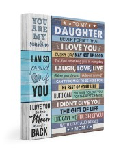 Never Forget That I Love U Mom To Daughter 11x14 Gallery Wrapped Canvas Prints front