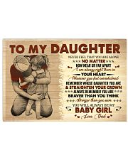 Never Feel That You Are Alone Dad To Daughter Horizontal Poster tile