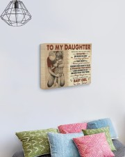 Never Feel That You Are Alone Dad To Daughter 14x11 Gallery Wrapped Canvas Prints aos-canvas-pgw-14x11-lifestyle-front-02