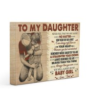 Never Feel That You Are Alone Dad To Daughter 14x11 Gallery Wrapped Canvas Prints front