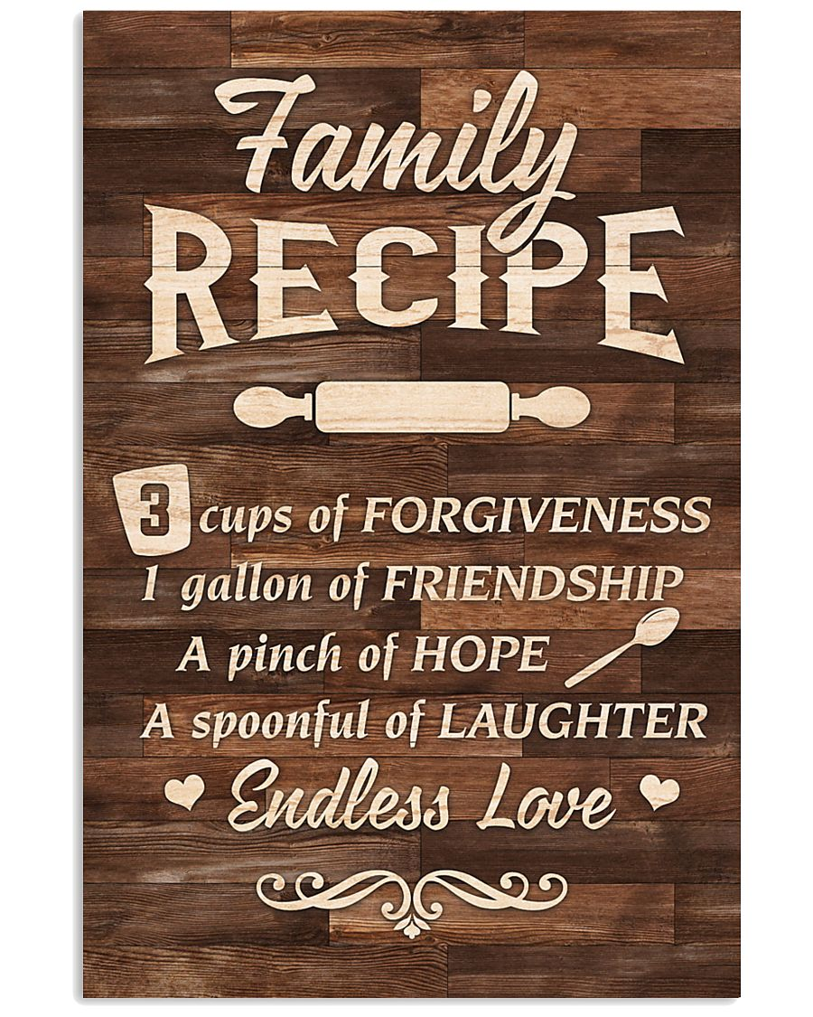Family Recipe 11x17 Poster