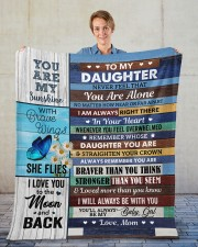 """Never Feel That You Are Alone Mom To Daughter Fleece Blanket - 50"""" x 60"""" aos-coral-fleece-blanket-50x60-lifestyle-front-01"""