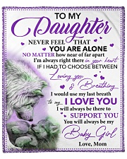 "Daughter I Would Use My Last Breath To Say I LoveU Fleece Blanket - 50"" x 60"" front"