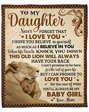 "Never Forget I Love U Lion Mom To Daughter Fleece Blanket - 50"" x 60"" front"
