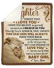 """Never Forget I Love U Lion Mom To Daughter Sherpa Fleece Blanket - 50"""" x 60"""" thumbnail"""