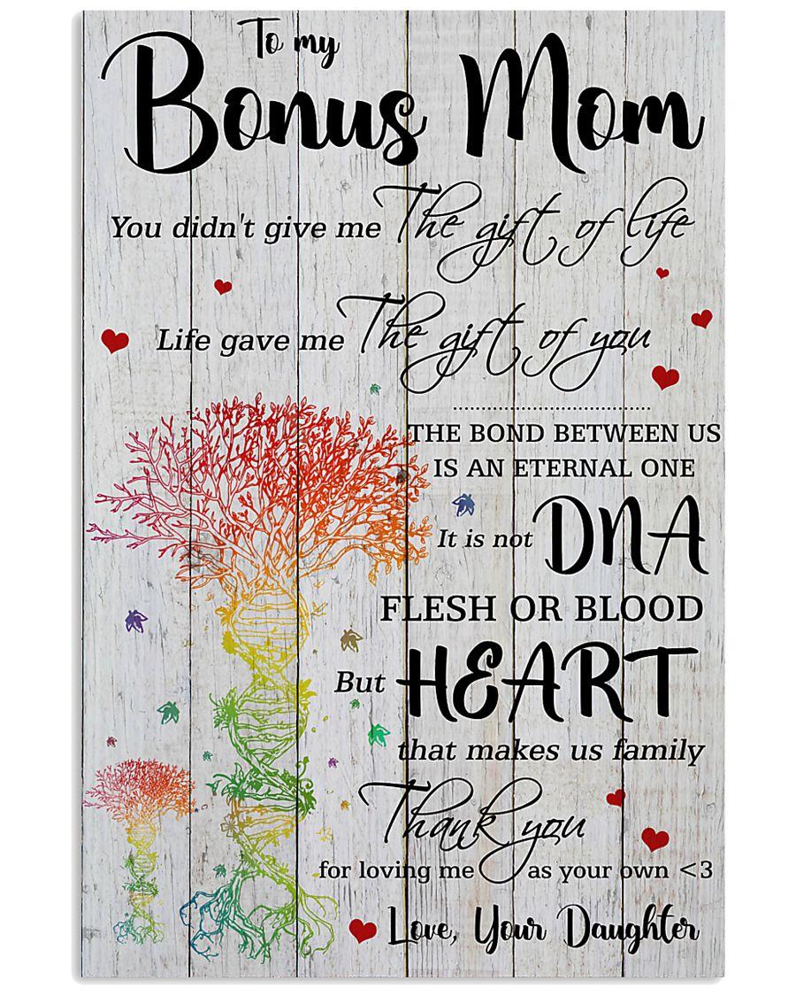 Bonus Mom Thanks For Loving Me As Your Own 11x17 Poster