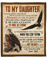 "When Life's Troubles Eagle Dad To Daughter  Fleece Blanket - 50"" x 60"" front"