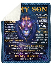 I Asked God For A Best Friend Lion Mom To Son Sherpa Fleece Blanket tile