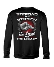 Stepdad And Stepson The Legend And The Legacy Crewneck Sweatshirt thumbnail