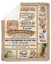 Lion-Im So Proud Of U - Dad-To-Daughter Sherpa Fleece Blanket tile