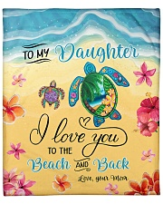 "I Love U To Beach And Back Turtle Mom To Daughter Fleece Blanket - 50"" x 60"" front"