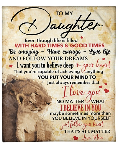 To My Daughter Always Remember That I Love You