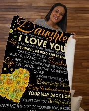 "To My Daughter Sherpa Fleece Blanket - 50"" x 60"" aos-sherpa-fleece-blanket-50x60-lifestyle-front-09b"