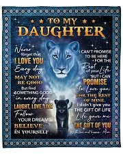 "Lion-Never Forget That I Love U Mom-To-Daughter Fleece Blanket - 50"" x 60"" front"