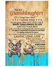 Never 4get How Much I Love U Pig To Granddaughter 11x17 Poster front
