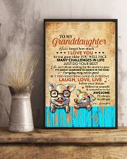 Never 4get How Much I Love U Pig To Granddaughter 11x17 Poster lifestyle-poster-3