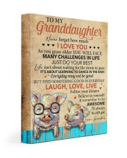 Never 4get How Much I Love U Pig To Granddaughter Gallery Wrapped Canvas Prints tile