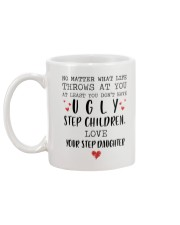 Happy Fathers Day - You don't have ugly step child Mug back