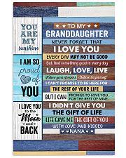 Never Forget That I Love U - Nana To Granddaughter Vertical Poster tile