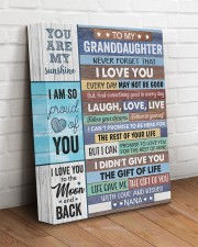 Never Forget That I Love U - Nana To Granddaughter 11x14 Gallery Wrapped Canvas Prints aos-canvas-pgw-11x14-lifestyle-front-14