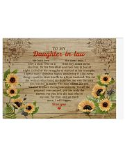 Daughter-In-Law So Much More I'll Forever Love You Horizontal Poster tile