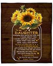 """My Love For U Is Forever Sunflower Mom To Daughter Fleece Blanket - 50"""" x 60"""" front"""