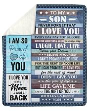 "Never Forget I Love U Mom To Son Sherpa Fleece Blanket - 50"" x 60"" thumbnail"