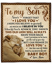 "Never Forget I Love U Lion  Mom To Son Fleece Blanket - 50"" x 60"" front"